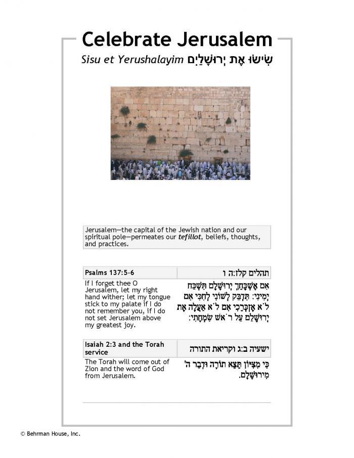 Celebrate Jerusalem PDF