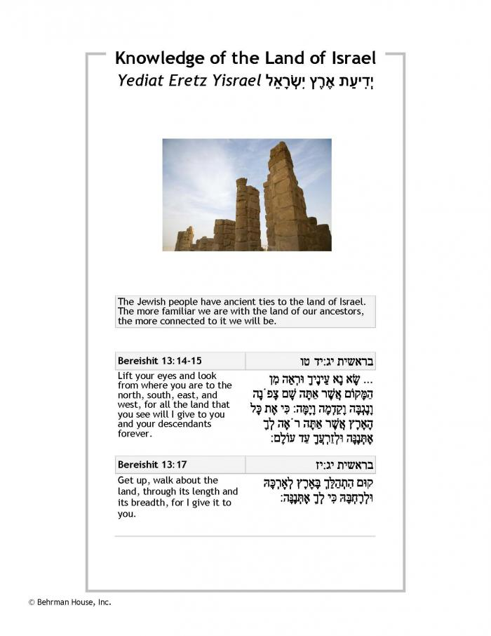 Knowledge of the Land of Israel PDF
