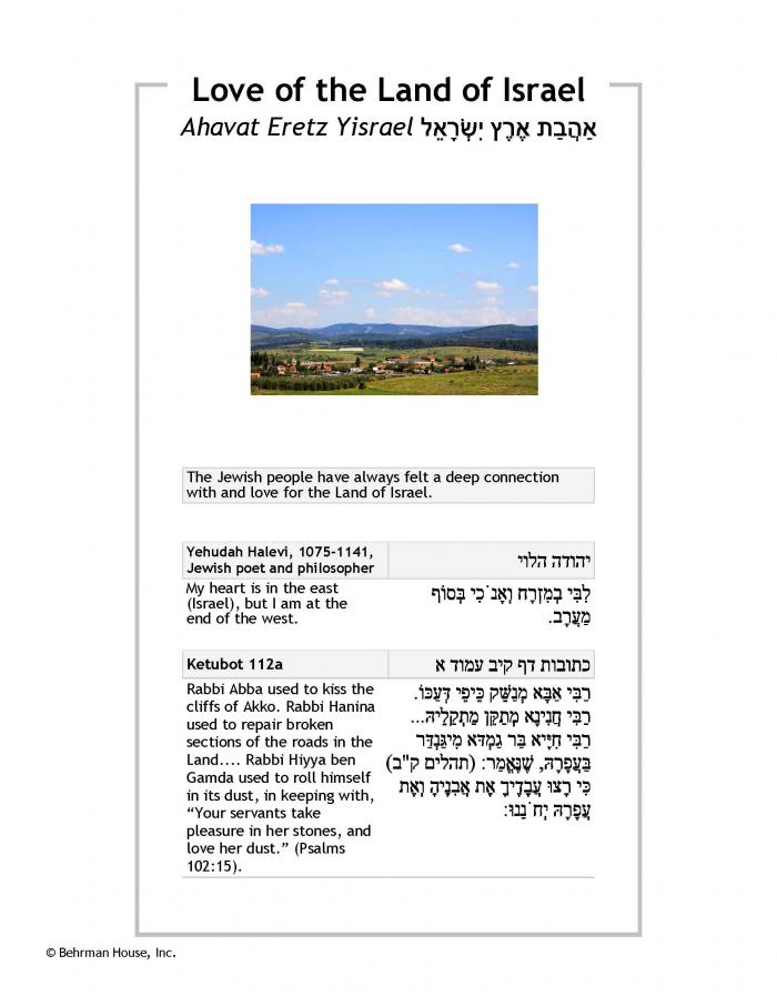 Love of the Land of Israel PDF