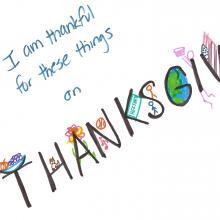 Thanksgiving Art Message
