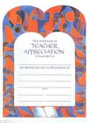 Certificate of Teacher Appreciation