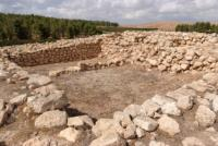 excavation of an ancient temple in Israel