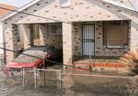 a flooded house after Hurricane Katrina