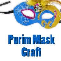 purim mask craft